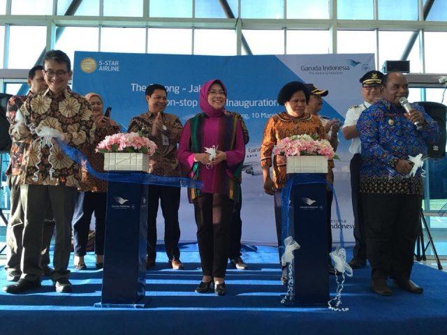PERLUAS JARINGAN PENERBANGAN DOMESTIK, GARUDA INDONESIA LAYANI PENERBANGAN LANGSUNG JAKARTA – SORONG PP
