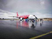 AirAsia Resmi Mendarat di Bandara Silangit Danau Toba