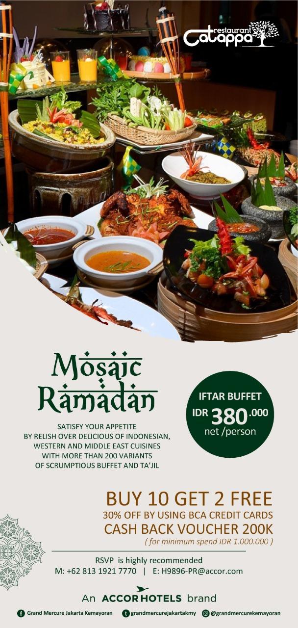 MOSAIC RAMADAN HOTEL GRAND MERCURE JAKARTA KEMAYORAN