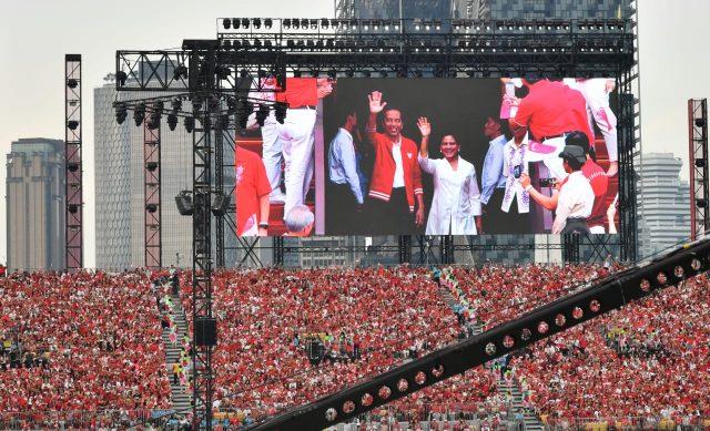 Presiden dan Ibu Negara Hadiri Perayaan Hari Nasional Singapura