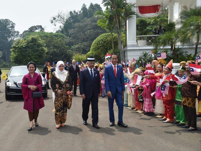 Presiden Jokowi Sambut Kunjungan Kenegaraan Raja Malaysia di Istana Bogor