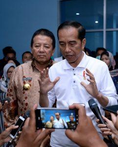 Presiden Sidak Layanan BPJS Kesehatan di RSUD Abdul Moeloek