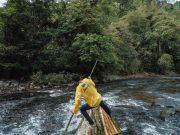 Puluhan Lanting Paring Lewati Jeram Sungai Amandit Jadi Atraksi di Festival Loksado 2019