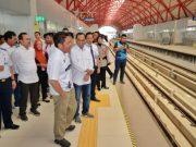 Pastikan Layanan Membaik, Menhub Tinjau Secara Berkala Pengoperasian LRT Sumsel