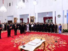 Presiden Saksikan Pengucapan Sumpah Jabatan Dewan Pengawas dan Pimpinan KPK