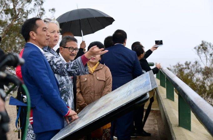 Kunjungi Mount Ainslie, Presiden Pelajari Pembangunan Ibu Kota