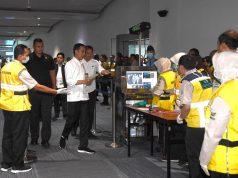 Presiden Tinjau Bandara Soekarno-Hatta Pastikan Pengecekan Kesehatan di Tempat Publik Berjalan Baik