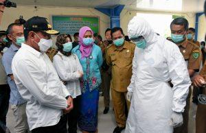Tinjau RSUD Padangsidimpuan, Gubernur Sumut Segera Penuhi Kebutuhan Medis Penanganan Covid-19