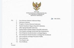 Menteri PANRB Terbitkan SE Sistem Kerja Pegawai ASN dalam Tatanan Normal Baru halo indonesia