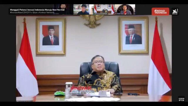 Menristek Tekankan Pentingnya Optimalisasi Riset dan Inovasi Hadapi the New Normal halo indonesia