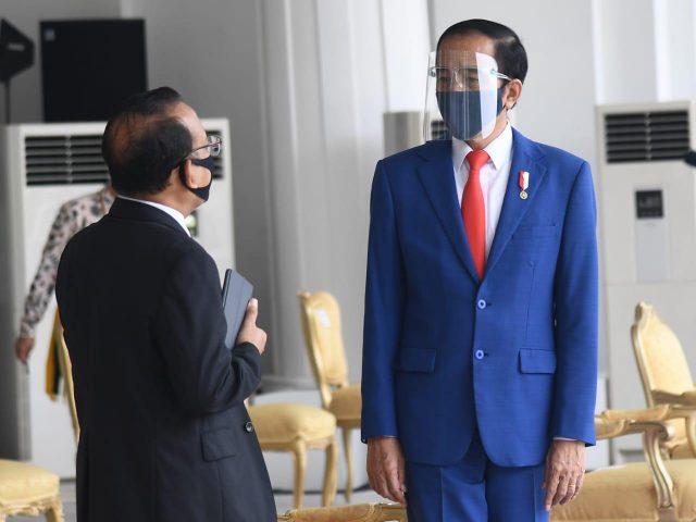 Presiden Jokowi Saksikan Geladi Peringatan Detik-Detik Proklamasi Kemerdekaan RI