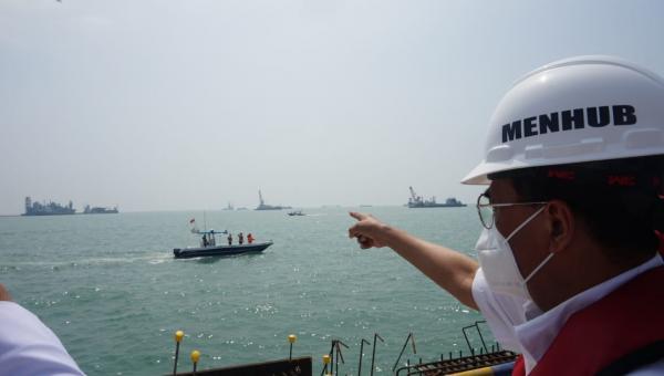 Tinjau Proyek Pelabuhan Patimban, Menhub Optimis Pembangunan Tahap I Dapat Beroperasi November 2020