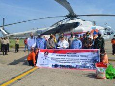 Pemprov Kalteng Distribusikan Bantuan Sembako Melalui Jalur Udara