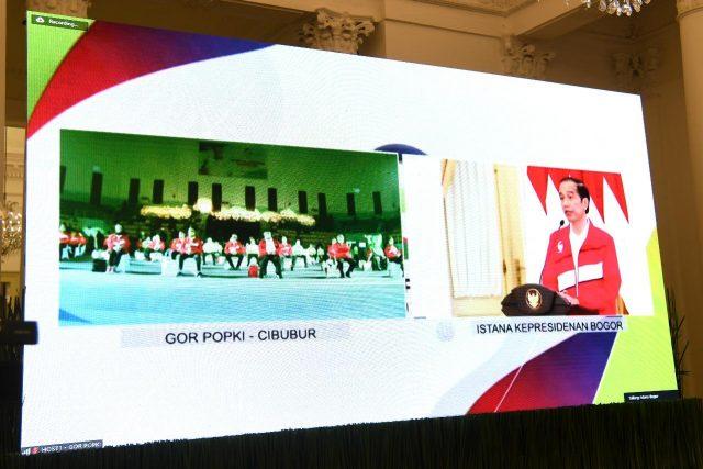 Presiden Hadiri Acara Puncak Haornas 2020 secara Virtual dari Istana Bogor