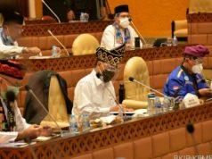 Raker Dengan Komisi V DPR RI, Menhub Sampaikan Penyesuaian RKA K/L TA.2021 Guna Dukung Pemulihan Ekonomi Nasional