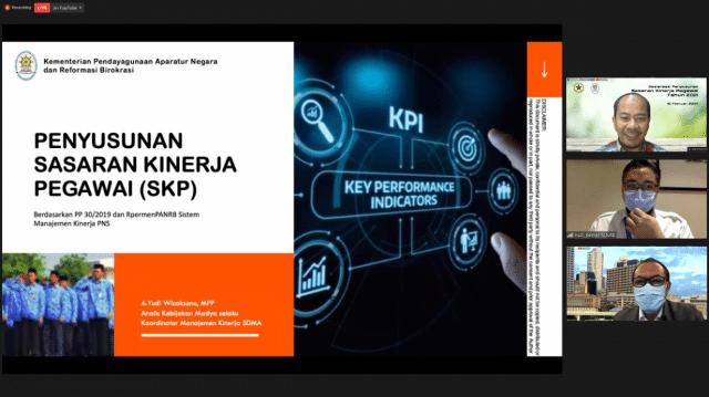 Siapkan Penyusunan SKP 2021, Kemensetneg Selenggarakan Sosialisasi