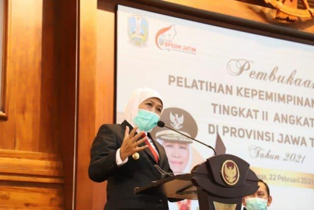 Dihadapan 60 Peserta Latpimnas II, Gubernur Jatim Minta Para Pejabat Tinggi Pratama Kerja Cepat, Detail dan Presisi Tinggi