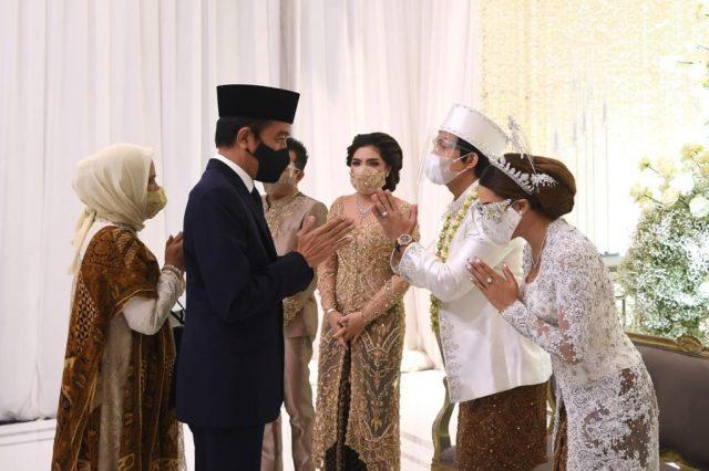 Presiden Joko Widodo dan Ibu Negara Iriana Hadiri Akad Nikah Aurel dan Atta