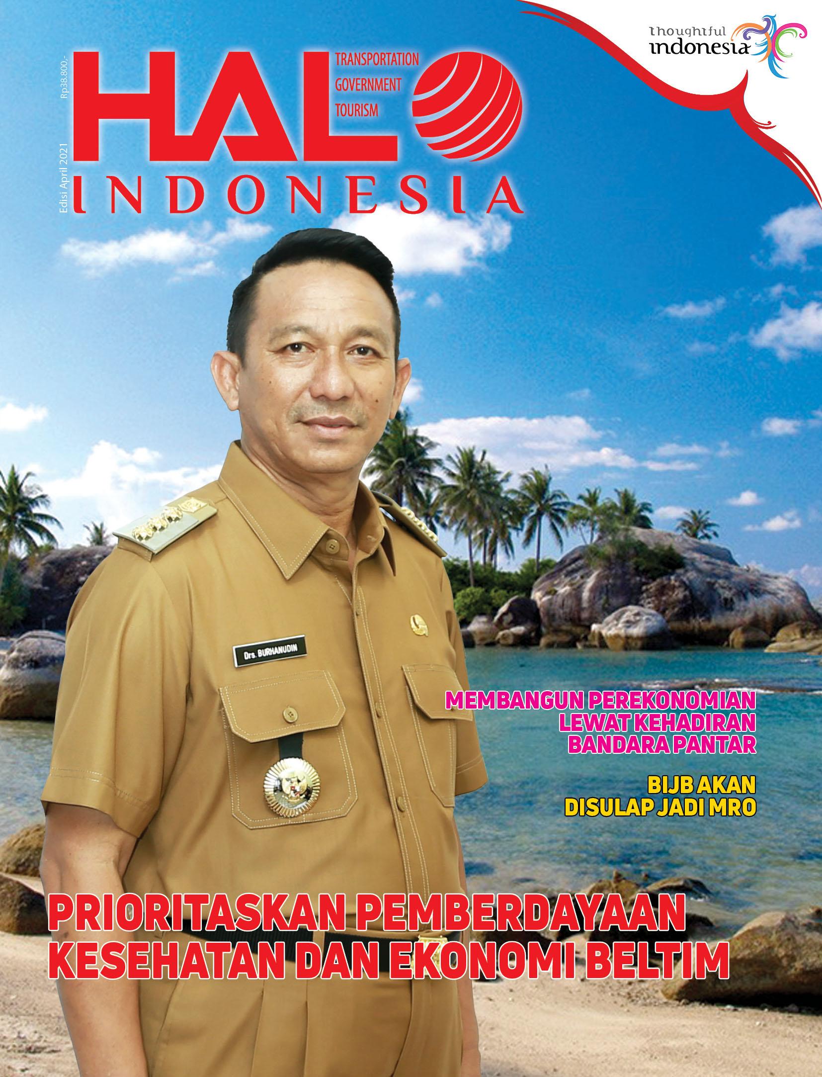 Cover Majalah Halo Indonesia Belitung Timur