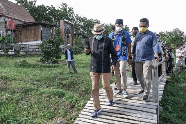 Menparekraf Tinjau Kampung Agrinex Pandeglang Banten