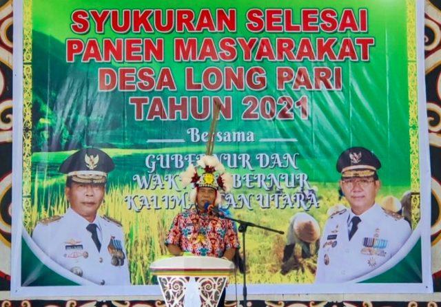Selesai Panen Padi, Desa Long Pari Syukuran Panen Berlimpah dengan Gubernur dan Wakil Gubernur