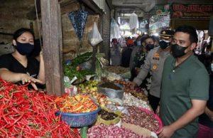 Pastikan Protokol Kesehatan Berjalan, Wali Kota Bersama Kapolrestabes dan Dandim Tinjau Pusat Pasar