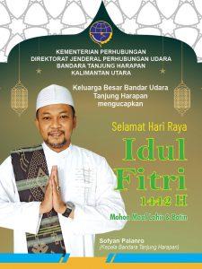 ucapan idul fitri 2021 Bandara Tanjung Selor