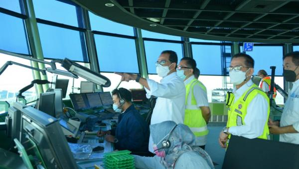 Tinjau Bandara Soekarno-Hatta, Menhub: Pergerakan Pesawat Semakin Membaik
