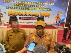 Pemprov Papua Serahkan Hibah Rp500 Miliar Penyelenggaraan Peparnas XVI