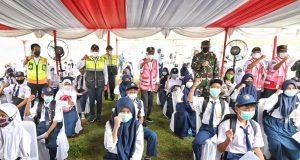 Kemenhub Berkolaborasi Dengan TNI AU Gelar Vaksinasi di Sekolah-Sekolah Transportasi