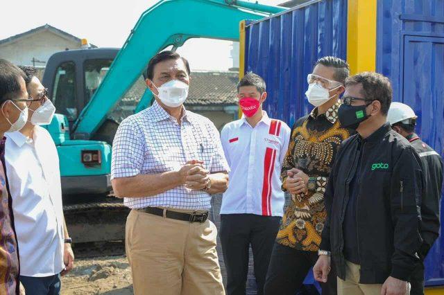 Tinjau Rumah Oksigen, Menko Marves Harapkan Tambah Fasilitas Isolasi