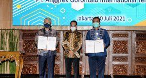 Perjanjian Kerjasama Pembangunan Pelabuhan Anggrek di Gorontalo Melalui Skema Pendanaan Kreatif KPBU Ditandatangani