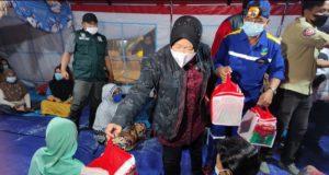 Mensos Bantu Korban Bencana Banjir di Kabupaten Gorontalo