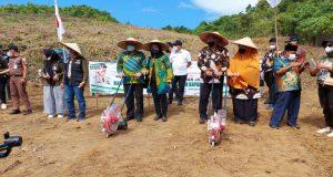 Laksanakan Penanaman Perdana Tanaman Jagung di Banggai, Wagub Sulteng: Bupati Diharapkan Dorong Masyarakat Manfaatkan Kredit UMKM