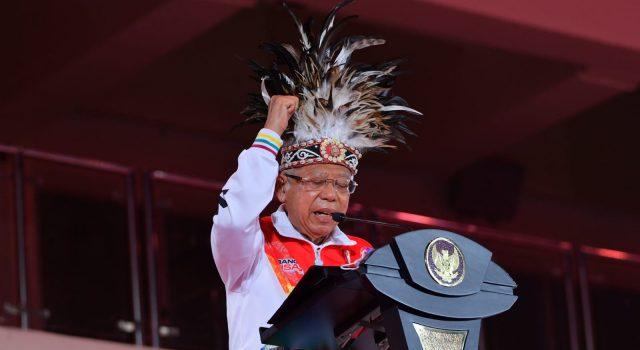 Berlangsung Meriah, Wakil Presiden Ma'ruf Amin Tutup PON XX Papua 2021