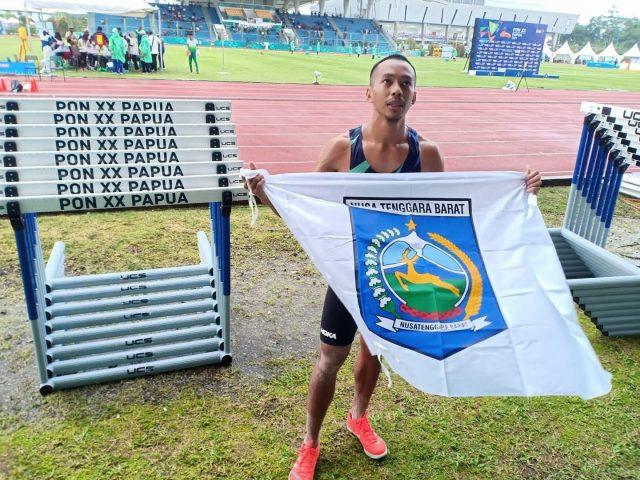 NTB Raih Medali Emas Kedua dari Cabor Atletik Nomor Lompat Jauh Putra