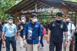 Visitasi 50 Besar ADWI, Menparekraf Sandiaga Resmikan Pembukaan Pasar Semi Kaki Langit